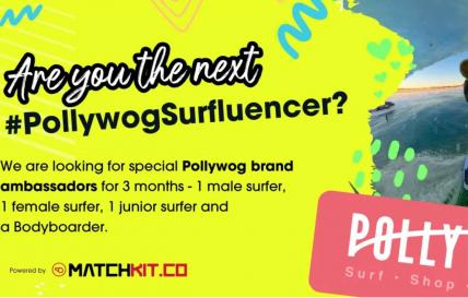 Get paid to surf with #PollywogSurfluencer and MatchKit.co