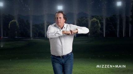 Phil Mickelson is beyond parody now.