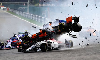 The Belgian F1 crash from all angles.
