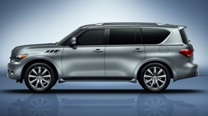 The Infiniti QX80 - a car that Jeremy Clarkson wouldn't approve of.